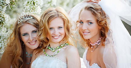 image of 3 happy brides