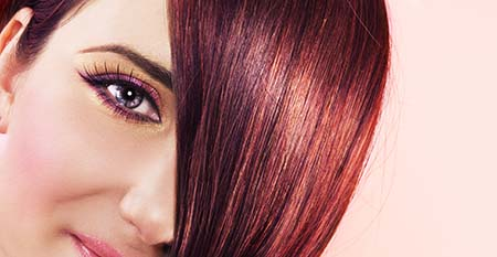 image of ruby hair