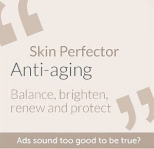 skin perfector anti aging blance brighten renew and protect in quotes