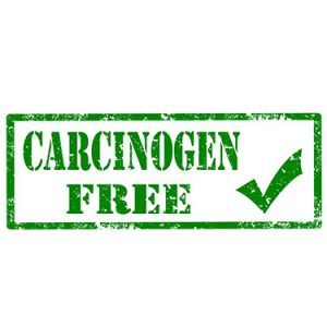 carcinogen free with check mark