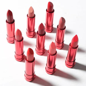 red tubes of lipstick
